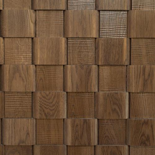 Мозаика и 3D панели из дерева Da Vinci 1006 Плетенка с тиснением волна