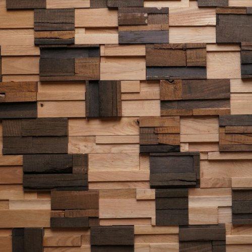 Мозаика и 3D панели из дерева RFA Дуб Микс