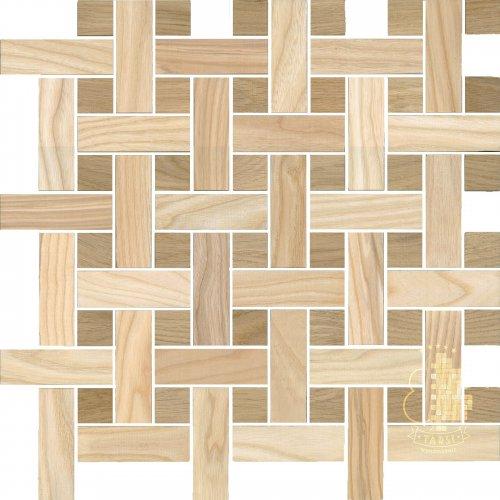 Мозаика и 3D панели из дерева Tarsi 2D501